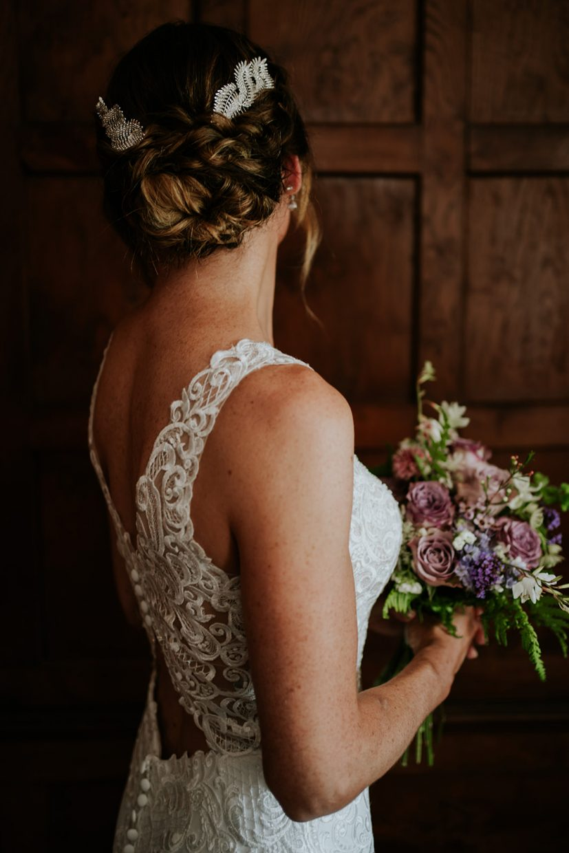 Bride has her hair done by a hair and makeup artist in Cornwall on her runaway wedding in Cornwall