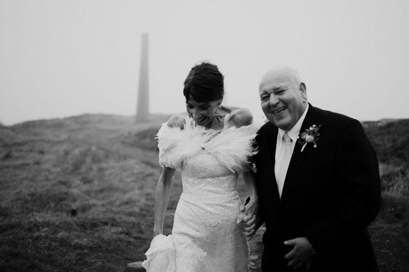 Wedding couple smile